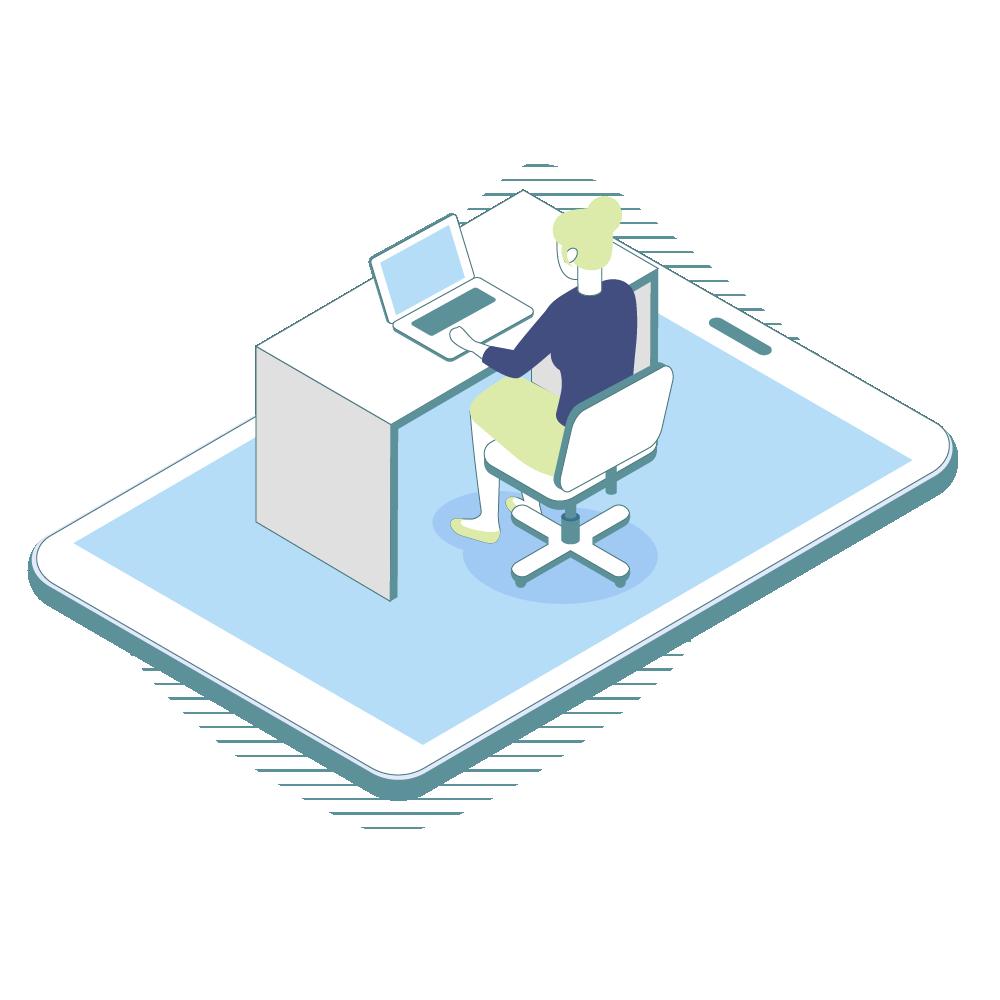 Digitaler Arbeitsplatz mit richtiger Software