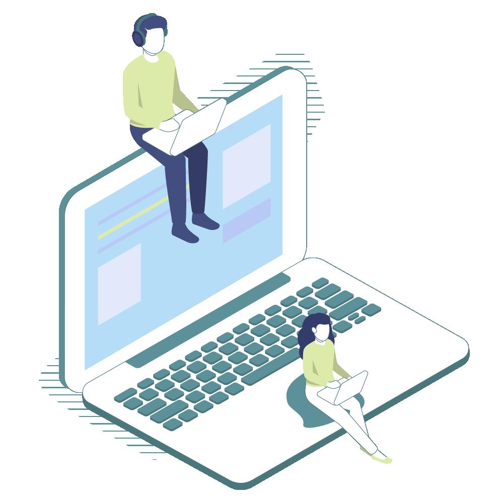 Grafik Digitalisierung Laptop