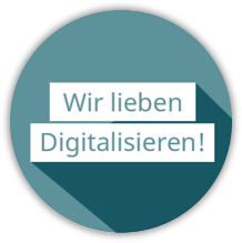 Wir lieben Digitalisierung Button