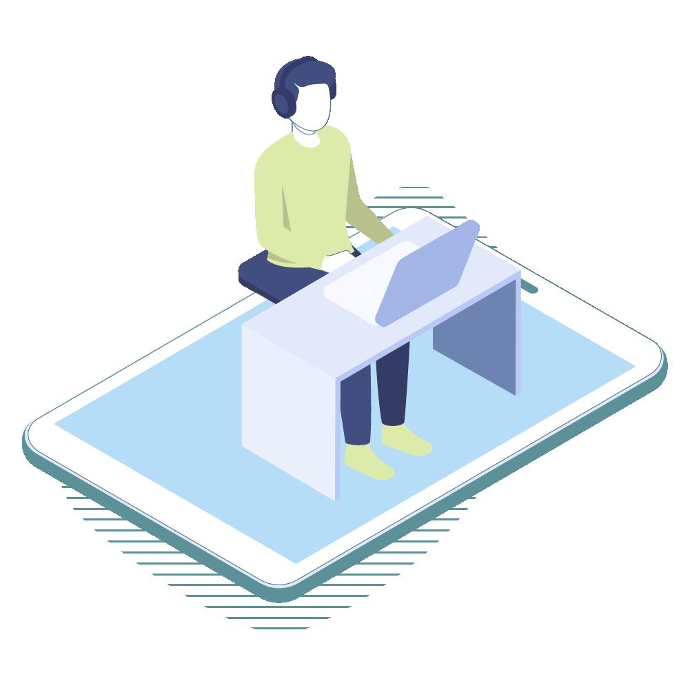 Grafik Digitalisierung am Arbeitsplatz