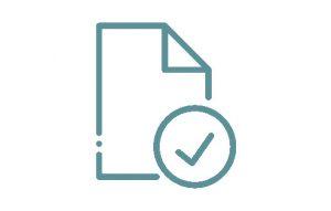 Icon Gesetzeskonform Petrol