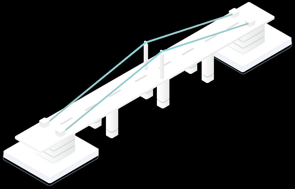 Grafik Brücke modern