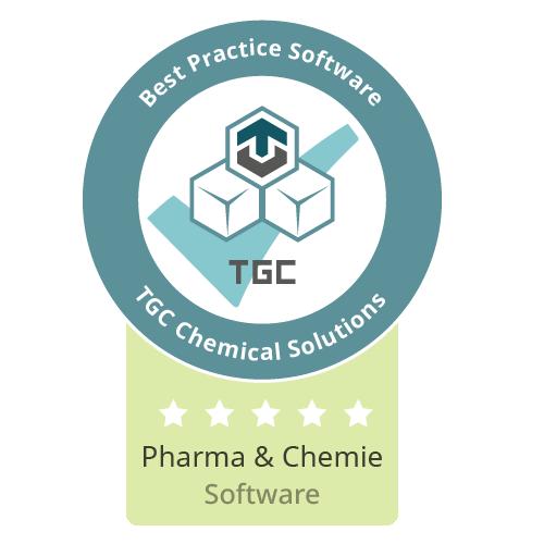 Siegel Beste Software für Pharma und Chemie
