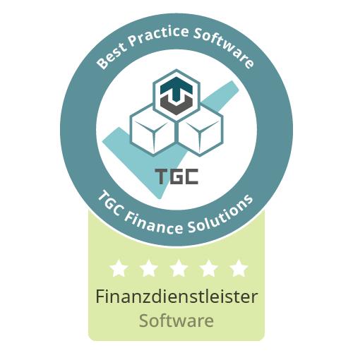 Siegel Beste Software für Finanzdienstleister