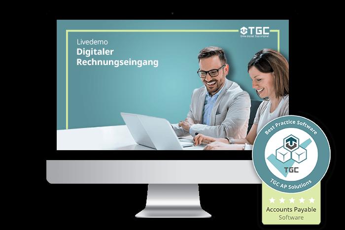 Live-Demo von Software für digitalen Rechnungseingang