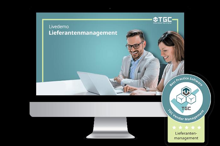 Live-Demo von Software für digitales Lieferantenmanagement