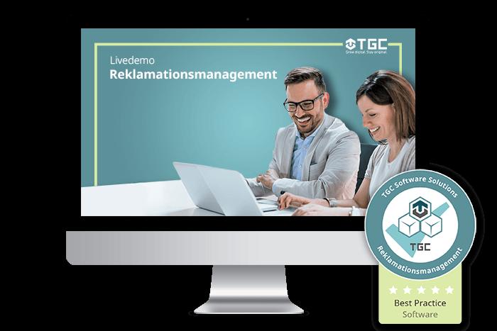 Live-Demo von Software für digitales Reklamationsmanagement