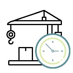 Zeitersparnis auf Baustelle durch Bau Software Lösung
