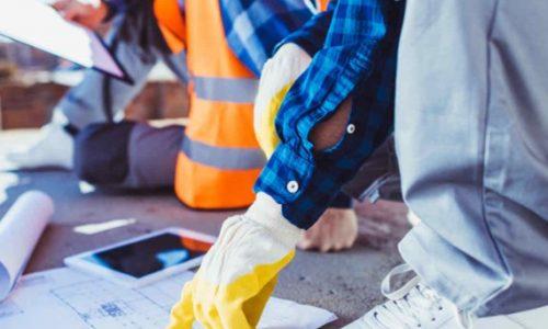 Digitalisierung im Bauwesen Tablet